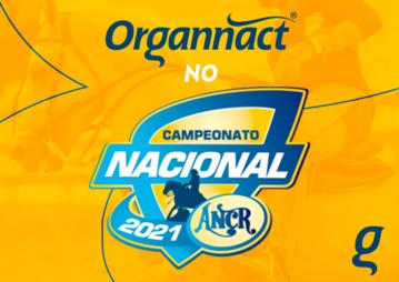 Banner informativo sobre a participação da Organnact no evento da ANCR 2021.